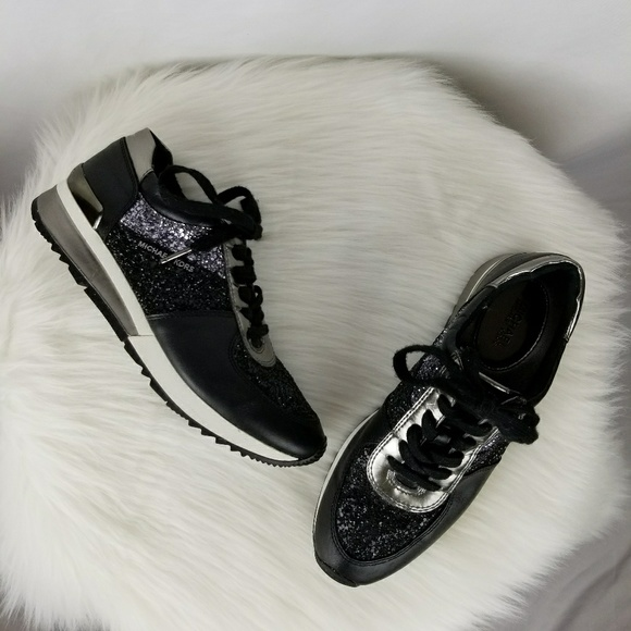 57a8ea1e9b07 Michael Kors Allie Wrap Glitter Trainer Sneakers. M 5b2443cc04e33d2e64458a90